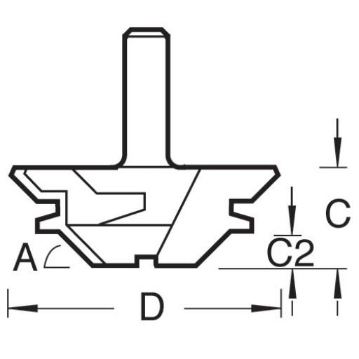 Фреза фасонная для сращивания под углом Trend C189X1/4TC D 42 мм / L 14.3 мм / S 6.35 мм