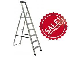 Односторонняя алюминиевая лестница - стремянка Krause SOLIDO, развальцованные 7 ступеней распродажа -45%
