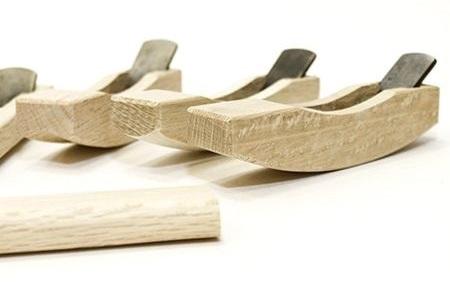 Рубанки японские из белого дуба Miki Tool Small, 94 мм, 9 штук в деревянном кейсе