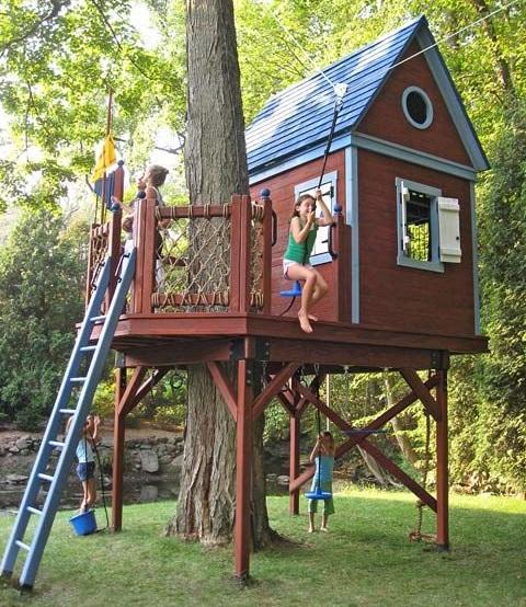 Дом на дереве: может быть сбывшейся мечтой ребенка, его первый дом