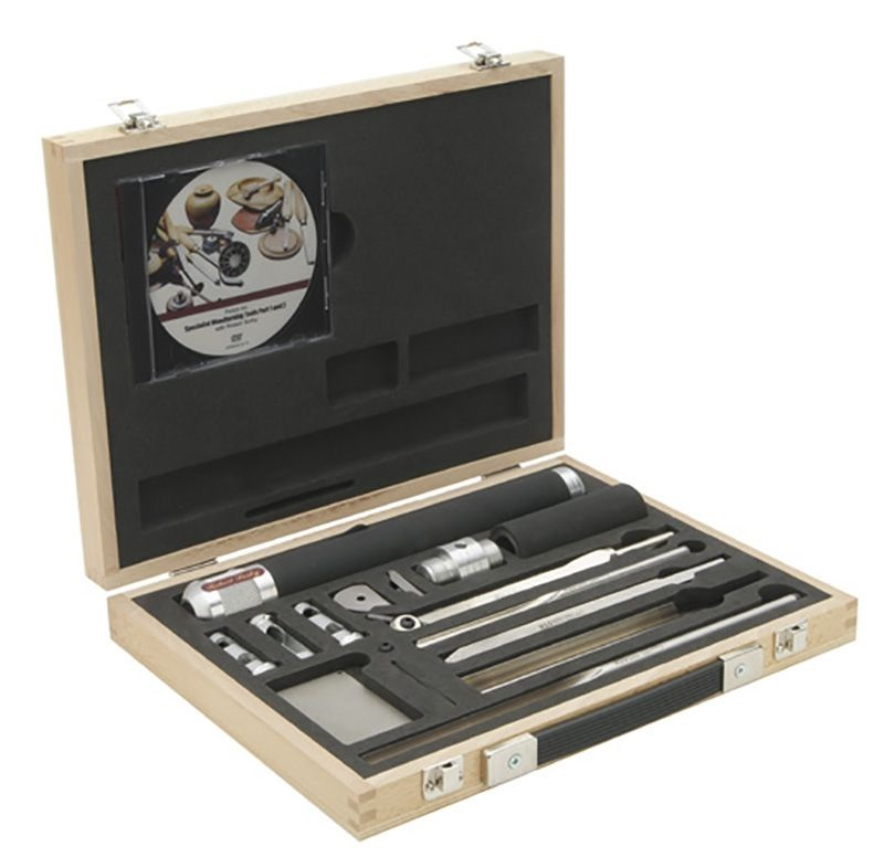 Набор токарный для точения чаш Robert Sorby Sovereign Deluxe Hollowing Tool Set в деревянном ящике