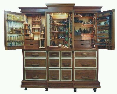 Шкафы для хранения ручных инструментов