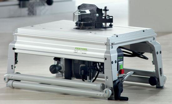 фрезерный стол фестул в разложенном и в сложенном состоянии ниже