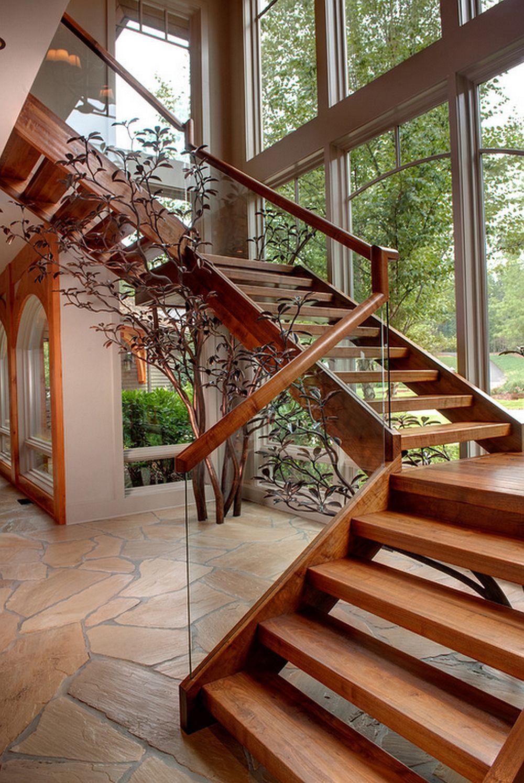Прямая трехпролетная - П-образная лестница