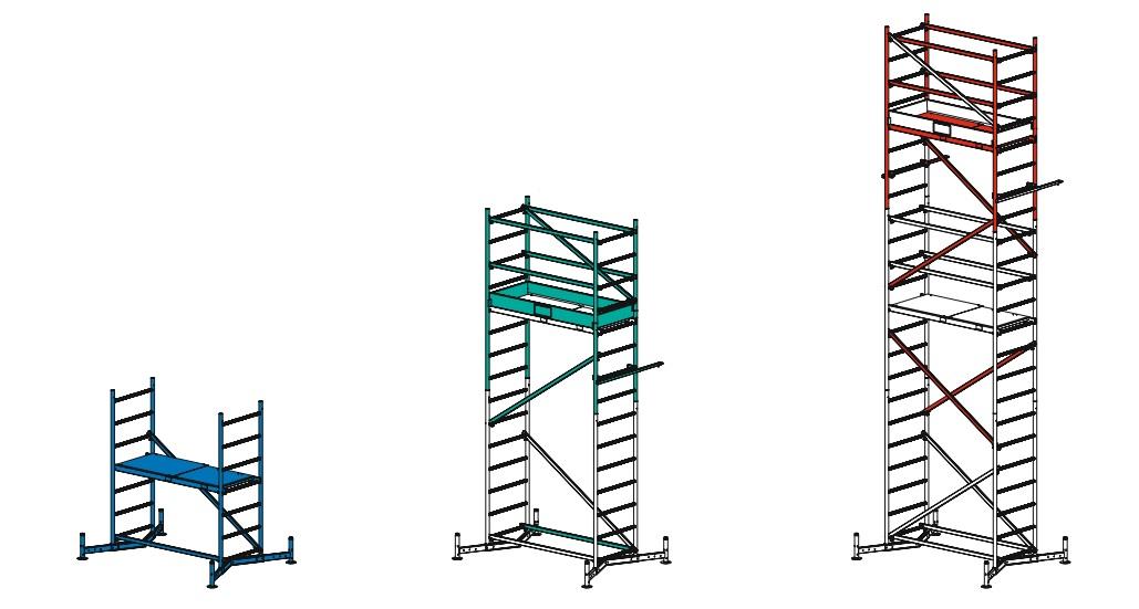 Вышка-тура алюминиевая KRAUSE ClimTec краузе климтек серия MONTO монто