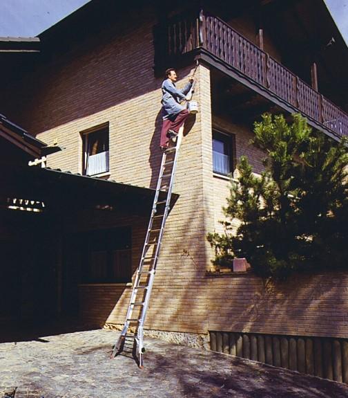 Шарнирная телескопическая лестница - стремянка Krause Monto TELEVARIO