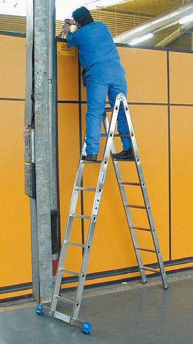 Двухсекционная шарнирная двусторонняя лестница - стремянка KrauseSTABILO