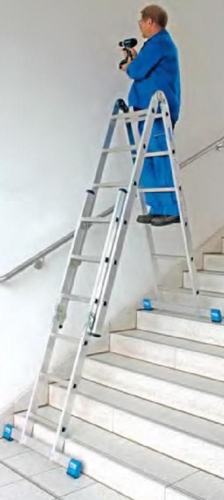 Шарнирная комбинированная лестница - стремянка Krause STABILO 2x3 и 2x6