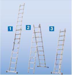 штабило двухсекционные лестницы трансформер купить