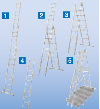 штабило трехсекционные лестницы трансформер купить