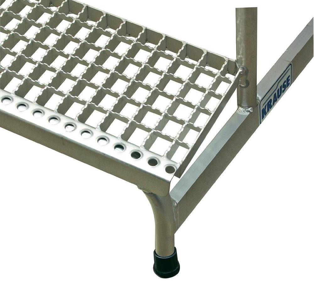 Монтажная алюминиевая подставка с решетчатыми ступенями Krause Stabilo