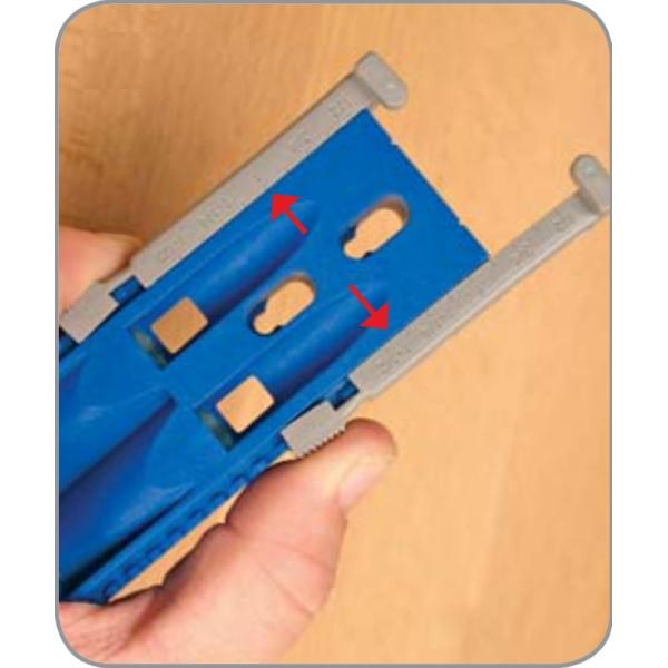 установка глубины сверления с помощью приспособления kreg