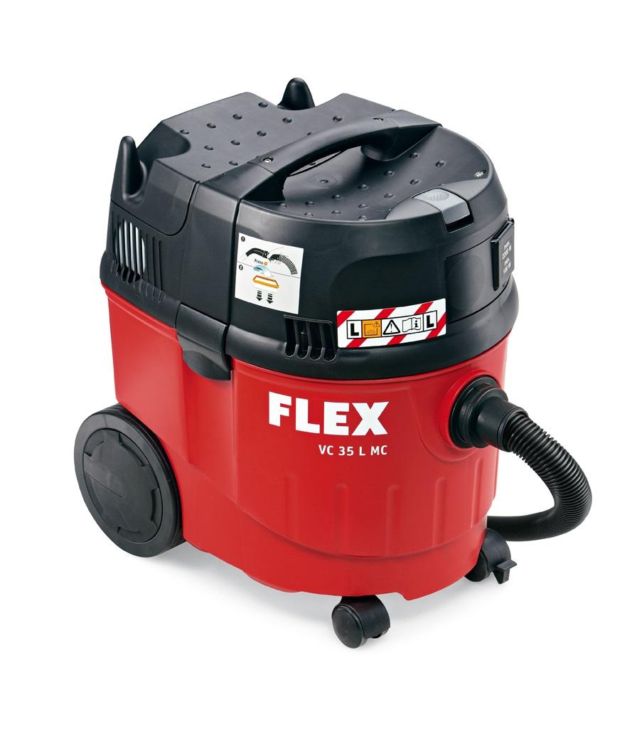 Безопасный пылесос FLEX VC 35 L MC 230/CEE с ручной очисткой фильтра, 35 л, класс L