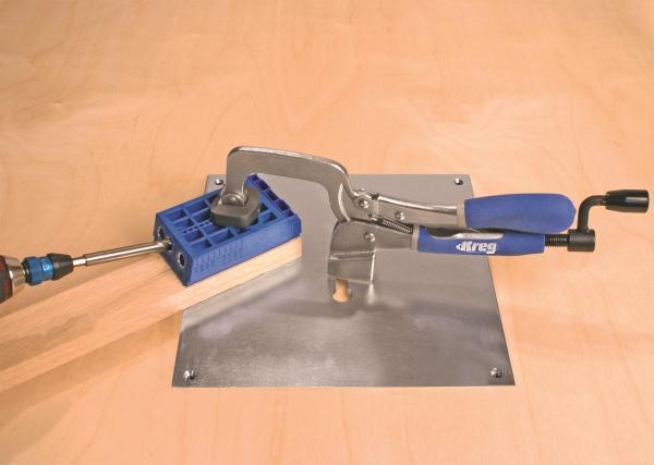 Зажим верстачный 76,2х101,6 мм Kreg с опорной базой (пластиной) Bench Klamp System