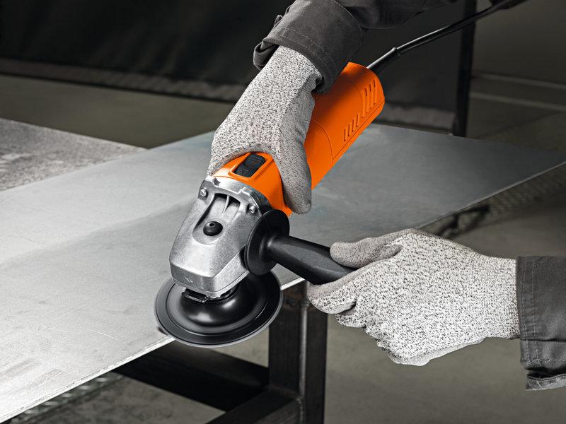Удобная и компактная угловая шлифовальная машина 800 Вт для шлифовальных, отрезных работ и удаления заусенцев