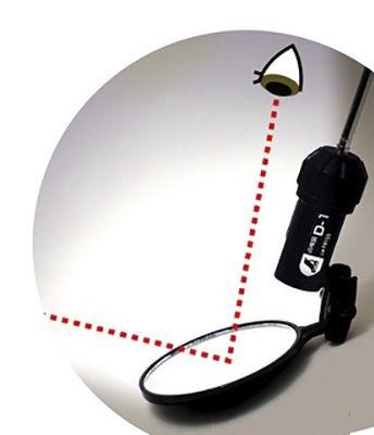 Овальное инспекционное зеркало со светодиодной подсветкой Shinwa 50*80 мм