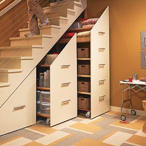 Идеи организации пространства под лестницей