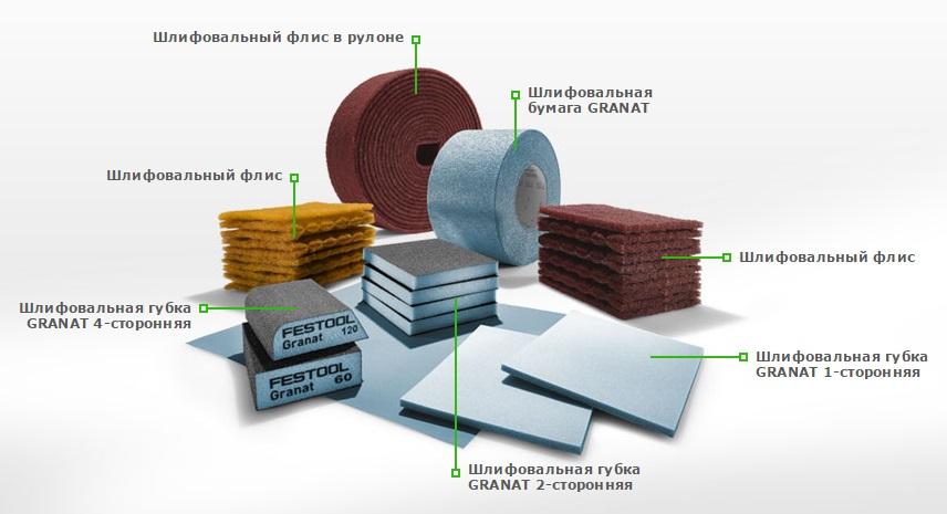 Материал премиум-класса GRANAT для ручного шлифования