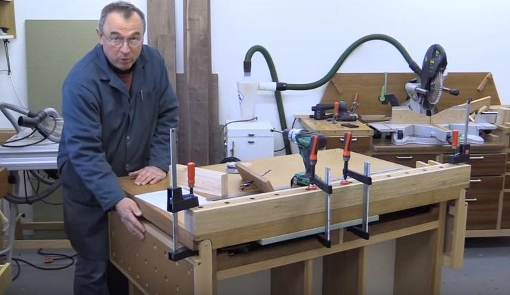 интересный проект стационарного верстака на роликах от Peter Parfitt из Англии