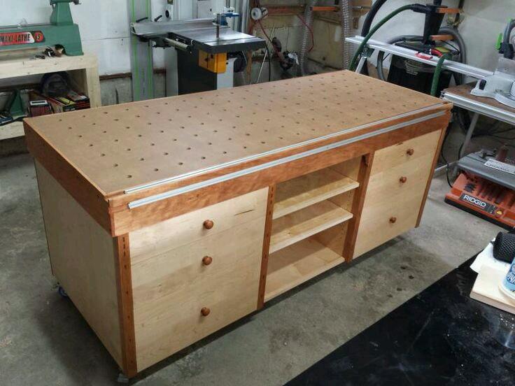 стационарный стол MFTC с верхним и боковым алюминиевыми профилями