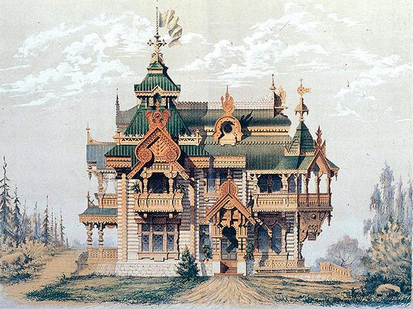 Из дерева строились жилые дома, церкви, хозяйственные постройки, даже укрепления