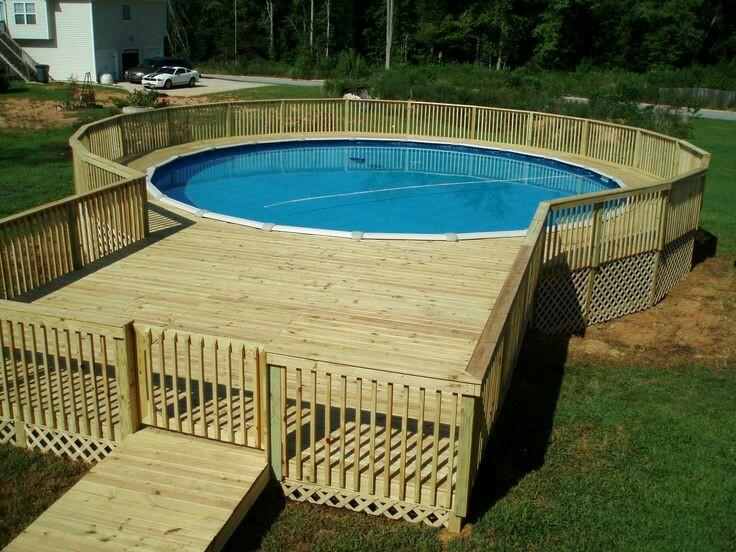 Летний бассейн для дачи