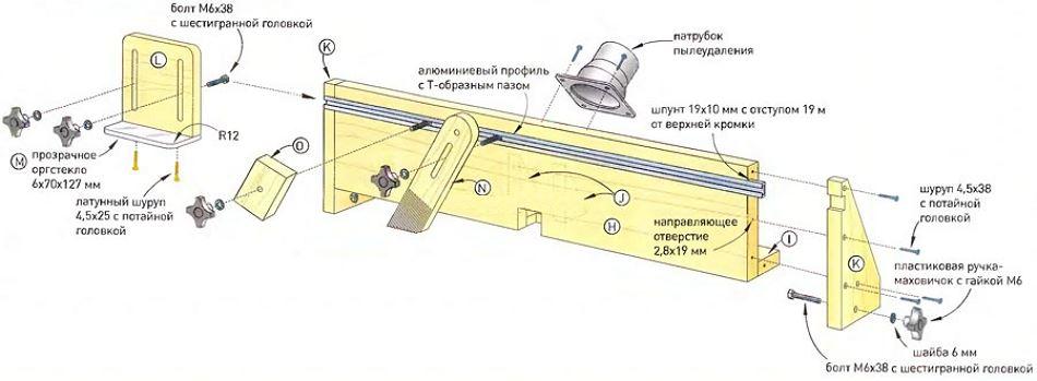 Схемы фрезерных столов и конструктивных решений столов для фрезера