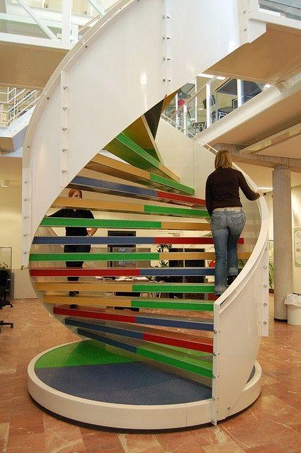 Ступени лестницы могут быть и двухзаходыми: