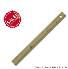 РАСПРОДАЖА! Линейка деревянная с гравированной шкалой без значений 100 см Shinwa Sh 71773