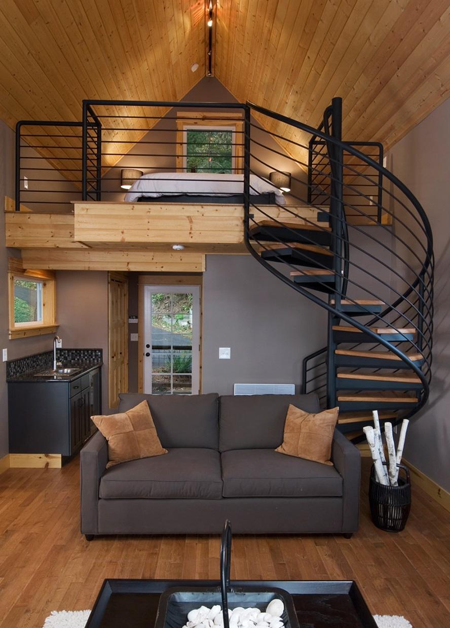 Еще фото красивых интерьеров домов с лестницами