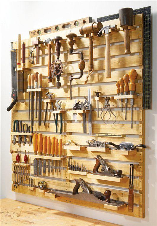 красивый и удобный способ размещения инструментов