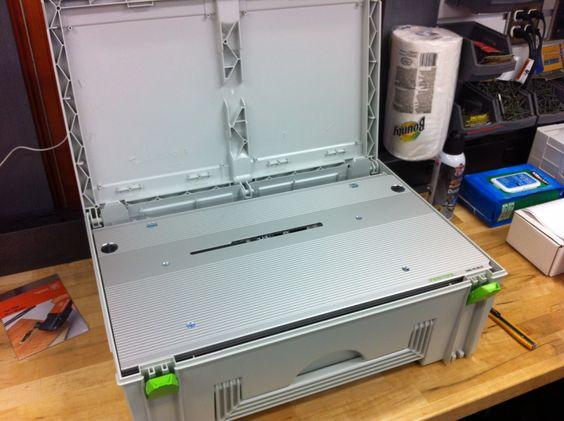 плита пильного модуля для CMS помещается в Макси систенере FESTOOL SYS MAXI