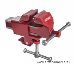 SALE Портативные слесарные тиски Piher 70мм со струбциной с квадратной направляющей для крепления к столу М00013380