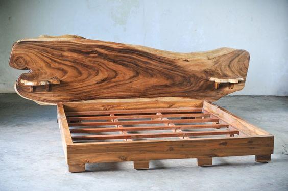 SLAB BED кровать из цельного дерева