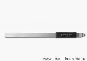 Шпатель металлический 28смх2ммх2см с пластиковой ручкой для реставрации (открывания, размешивания краски) Borma 6448