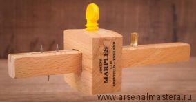 Рейсмус Marples Combination Mortise&Marking Gauge, комбинированный, пластиковый винт, 3 иглы, бук  М00006227