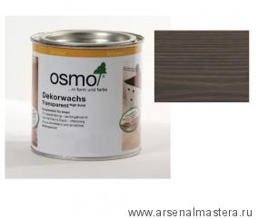 Прозрачная краска на основе масел и воска для внутренних работ Osmo Dekorwachs Transparent Granitgrau 3118 Серый гранит 0,125л