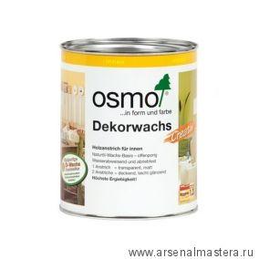 Цветное масло для древесины Osmo Dekorwachs Intensive Tone 3186 Белое матовое 0,125 л Osmo-3186-0.125