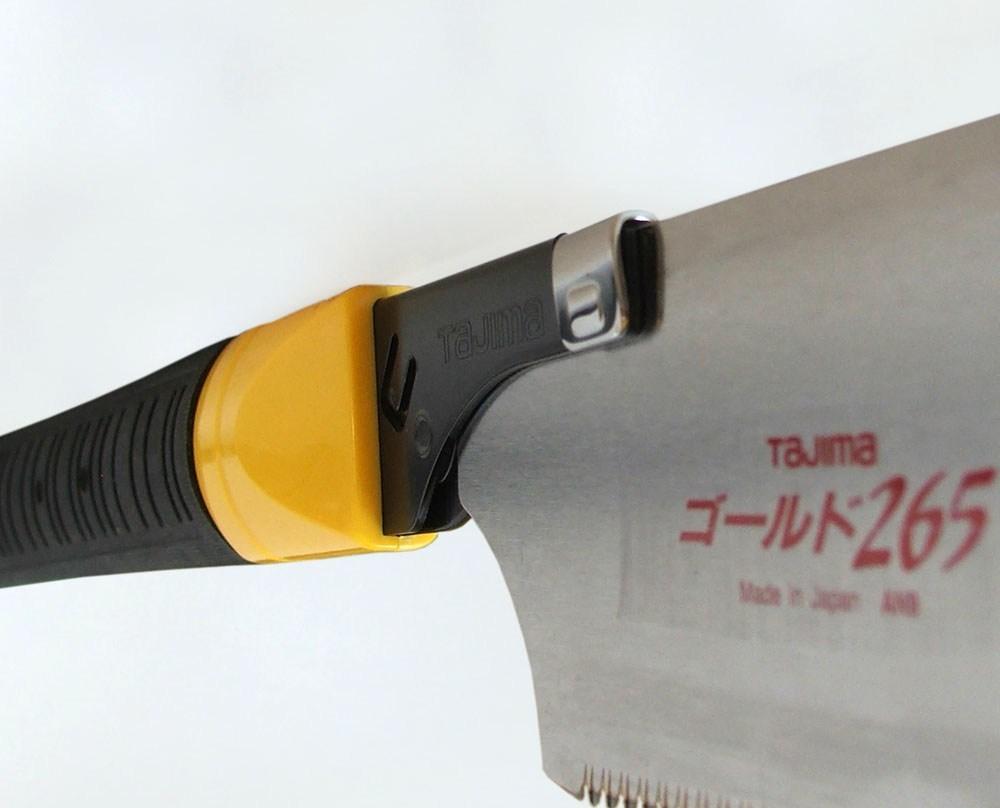 фото Ручная пила TAJIMA с прямой обрезиненой ручкой Japan Pull JPR265R/Y1
