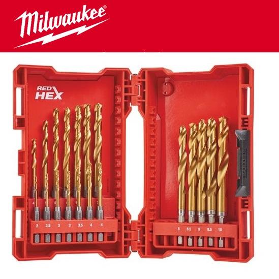 Shockwave HSS-G Tin Red Hex 19 шт MILWAUKEE 48894760