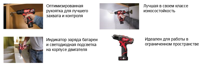 дрель MILWAUKEE M12 BDD-202С