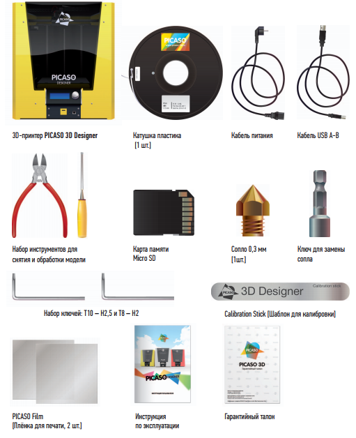 Компания PICASO 3D - история восхождения на рынок аддитивных технологий началась в 2011 году. Выпущены модели принтеров: PICASO 3D Builder, PICASO 3D Designer и PICASO Designer Pro 250. Разрабатываются обновления для моделей принтеров, существенно улучшающее качество печати до уровня более дорогих установок. На сегодняшний день PICASO 3D является лидером в области производства устройств для персональной 3D печати в России. Компания объединяет безопасность и легкость использования офисного оборудования, а также профессиональное качество промышленных 3D принтеров.