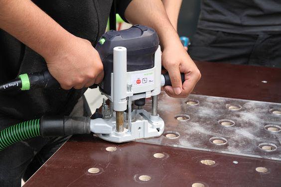 Шаблоны для изготовления отверстий в столешнице стола MFT