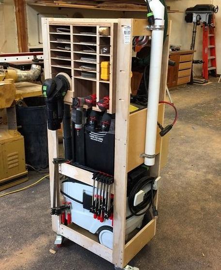 Самодельная мобильная система хранения для инструмента Фестул