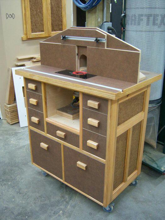 Авторские фрезерные столы могут быть изготовлены с применением стандартных элементов от серийных столов