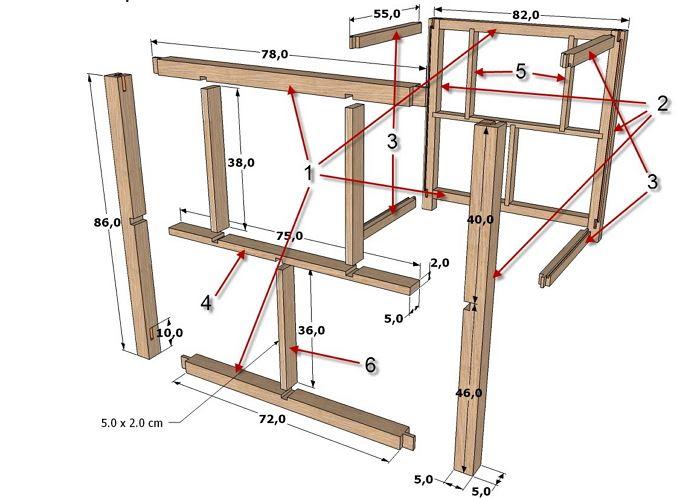 Схемы фрезерных столов и конструктивных решений