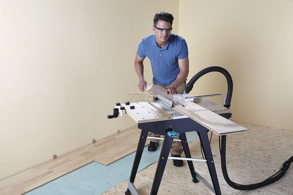 Многофункциональный складной стол 780x520x863 мм для работы с циркулярной пилой, лобзиком, фрезером Wolfcraft Master 1500