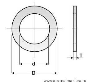 CMT 299.224.00 Кольцо переходное 30-20x1,4мм для пильных дисков