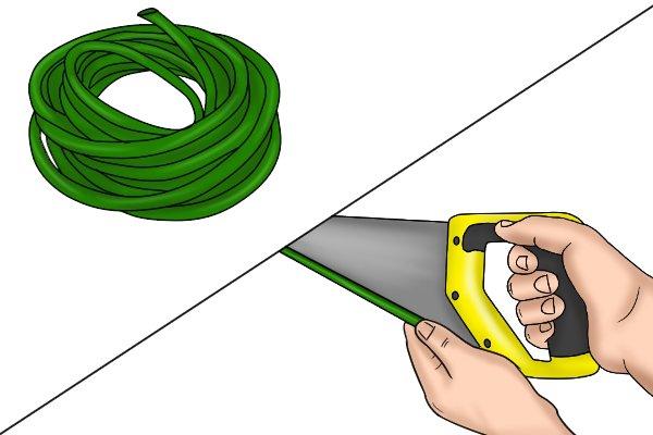 Используйте шланг для защиты пильного диска при хранении