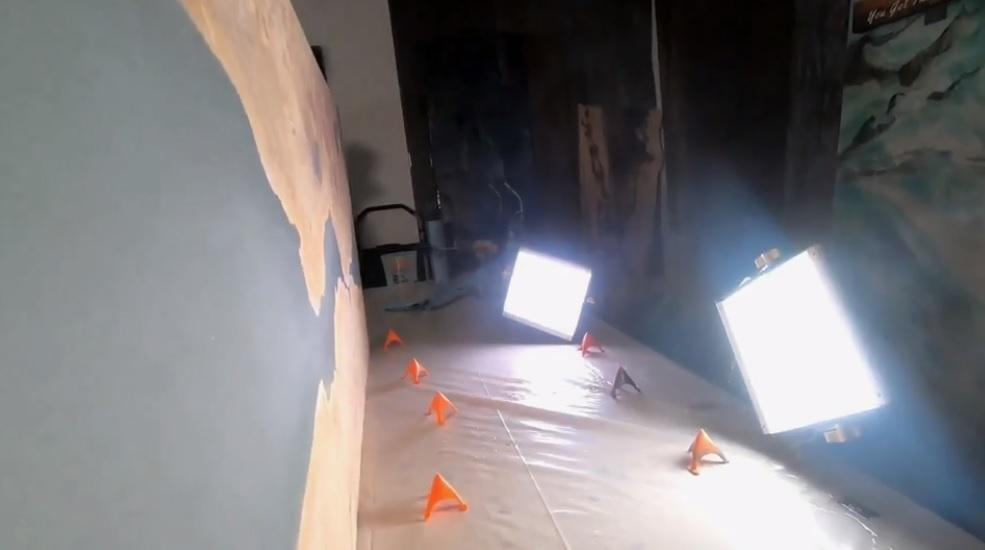 подсветка при обработки слеба